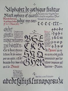 Variations sur la Fraktur (24 cm X 32 cm)
