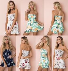 Floral Print Chiffon Playsuit Women 2019 Summer Sexy Off Shoulder Halter Sleeveless Boho Rompers Jumpsuit Beach Party Overalls Floral Print Chiffon Playsuit Women 2019 Summer Sexy Off Shoulder Halter Sleeveless Boho Rompers Jumpsuit Beach Party Overalls Rompers Women, Jumpsuits For Women, Boho Romper, Playsuit, Overalls Women, Print Chiffon, Clothes For Women, Clothing Company, Women's Clothing