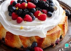 Mixed Berry Lemon Drenched Cake (What's Gaby Cooking) Whats Gaby Cooking, Slow Cooking, Easy Cake Recipes, Dessert Recipes, Dessert Ideas, Baking Recipes, Yummy Treats, Sweet Treats, Berry Cake