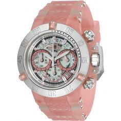 Invicta Subaqua White Dial Chronograph Ladies Watch ($190) ❤ liked on Polyvore featuring jewelry, watches, chronograph watches, stainless steel watches, analog sport watch, sport watch and white dial watches