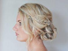 Rice Pearl Crystal Hair Vine, Wedding Hair Accessories,Customised Bridal Hair Vine, Bridal Hair Accessories, Graduation Hair Piece on Etsy, $64.39 CAD