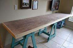 Sawhorse Craft Desk by Poofy Cheeks