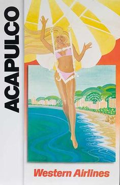 Western Airlines - Acapulco  1980's