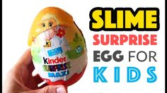 Slime Surprise Eggs for Kids on Play Dough - Maxi Kinder Surprise EGG