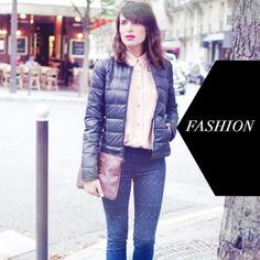 Aurelia from Fashion is a Playground wearing her Mademoiselle Plume jacket.