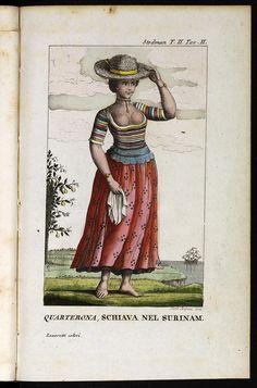 une quarteronne, esclave au Surinam