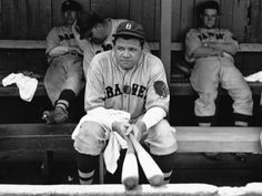 Babe Ruth on his final day in the majors, with Boston Braves; photographer Bruce Murray.