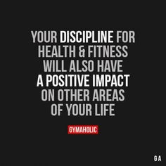 Quotes for Motivation and Inspiration QUOTATION – Image : As the quote says – Description Your Discipline For Health And Fitness - Fit Girl Motivation, Fitness Motivation Quotes, Weight Loss Motivation, Fitness Goals, Fitness Tips, Health Fitness, Workout Motivation, Citations Nutrition, Nutrition Quotes