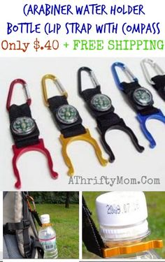 Compass water bottle holder, awesome idea for scouts or fitness groups #partyFavor, #scouts, #Freeshipping