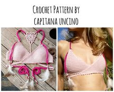 PDF-file for Crochet PATTERN Aliyah Crochet Bikini Top Sizes