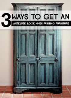 The best DIY projects & DIY ideas and tutorials: sewing, paper craft, DIY. DIY Furniture Plans & Tutorials : 3 Ways to Get an Antiqued Look When Painting Furniture -Read Refurbished Furniture, Paint Furniture, Repurposed Furniture, Furniture Projects, Furniture Making, Furniture Makeover, Antique Furniture, Modern Furniture, Furniture Design