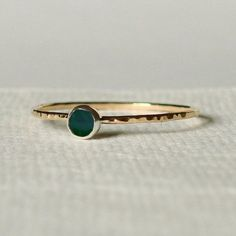 fine ring with jade stone