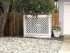 DIY – How to Build a lattice screen to hide garbage cans/air conditioner unit.