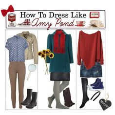 """""""How to Dress Like: Amy Pond"""" by the-tip-geek on Polyvore"""