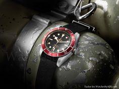 Great looking Tudor Heritage Black Bay presented at Baselworld 2012.