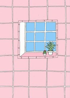 Pink aesthetic art drawings, wallpaper pink and blue, pink pattern background, grid wallpaper Art And Illustration, Landscape Illustration, Cactus Drawing, Poster S, Copics, Pink Aesthetic, Art Inspo, Aesthetic Wallpapers, Cool Art