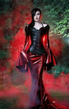 Morticia's new outfit!!!! PVC Goth girl