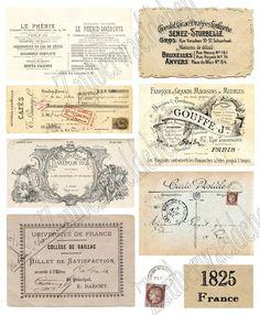 Bügelbild - Vintage French Labels von Zauberwaeldchen auf DaWanda.com