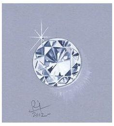 Diamond Sketch, Diamond Drawing, Gem Drawing, Drawing Sketches, Drawings, Drawing Ideas, Sea Glass Jewelry, Jewelry Art, Fashion Jewelry