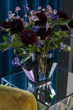 Harlem vase filled with beautiful flowers