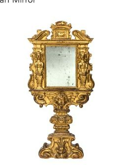 Mirror for a vanity or dressing room