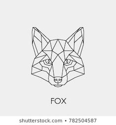 Immagine vettoriale stock 782504587 a tema Abstract Linear Polygonal Head Fox Vector (royalty free) Geometric Fox, Geometric Sleeve, Geometric Shapes, Family First Tattoo, Fox Drawing, Fox Head, Silhouette Clip Art, Fox Tattoo, Stained Glass Patterns