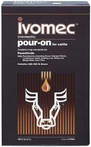 Ivomec Pour-On for Cattle Size - 1 Liter (67651)