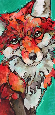 This wolf girl is named Maid Marian.I love her colors! by Amy Ringholz Art And Illustration, Illustrations, City Gallery, Fox Art, Wildlife Art, Animal Paintings, Art World, Pet Birds, Art Projects