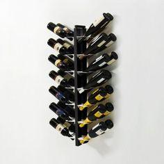 Le Zie di Milano/Portabottiglie Zia Gaia Bifacciale sospesa H105 cm - nero/Lovepromo