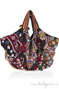 Simone Camille Carryall embroidered cotton bag
