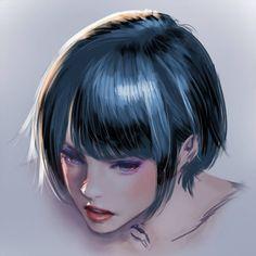 線画じゃなくて陰影で描けば簡単!?リアルな髪の毛の描き方! - マエコのデジタル工房