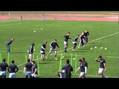 Pumas defensive unit goes through a warm-up led by Athletes' Performance specialist Simon Fathers as the team prepared for their Rugby World Cup m. Rugby Drills, Rugby Coaching, Rugby Training, Pumas, Warm, Fitness, Youtube, Rugby Workout
