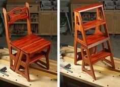 How to Build a Fold Over Library Chair/ Ladder Chair