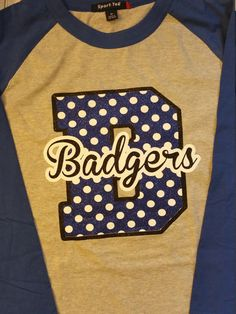 Large Mascot Letters Custom Item Polka Dot by FrilleysDesigns