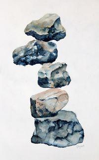 Rock On, watercolor, 18
