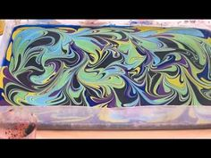 ▶ watercolor marbling 4-8-14 - YouTube
