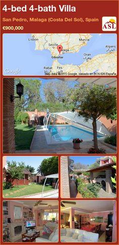 4-bed 4-bath Villa in San Pedro, Malaga (Costa Del Sol), Spain ►€900,000 #PropertyForSaleInSpain