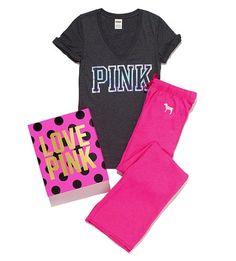 vs pink gift set (:  (size medium, nudge nudge)