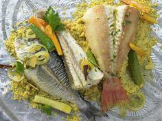 Safran-Couscous - mit Fisch und Gemüse - smarter - Kalorien: 634 Kcal - Zeit: 45 Min. | eatsmarter.de