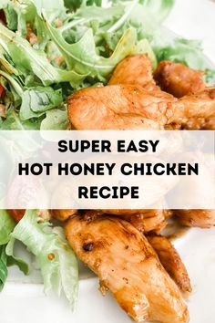 Wow - I can't believe it took me so long to try hot honey, but it makes this chicken dinner recipe hot honey chicken recipe so easy and full of flavor. If you love spicy AND sweet, you are in for a treat! Healthy Chicken Dinner, Chicken Breast Recipes Healthy, Chicken Meal Prep, Easy Chicken Recipes, Clean Eating Recipes For Dinner, Easy Dinner Recipes, Easy Meals, Chicken Life, Honey Chicken