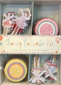 Meri Meri Cupcake Cases and Assorted Toppers (Set of 24) - Fairy #MeriMeri