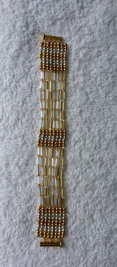 Beads and bugles bracelet