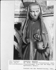 Konstanzer Münster Skulptur Frau 13. Jh