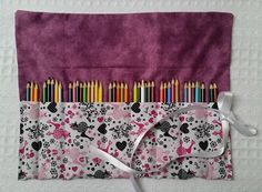The Rollup Pencil Roll Gift for Girls by BettyAldermanDesigns