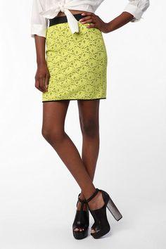 Silence & Noise Lace Mini Skirt