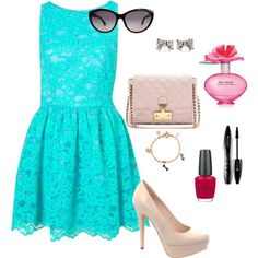 Mint and Lace, created by katieh2112 on Polyvore
