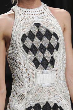 129 details photos of Balmain at Paris Fashion Week Spring 2013.