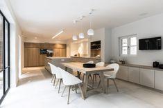 Style At Home, Open Plan Kitchen Living Room, Best Kitchen Designs, Kitchen Interior, Cool Kitchens, Interior Inspiration, Kitchen Remodel, Villa, New Homes