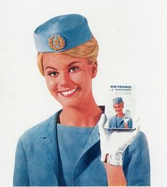 Vintage Stewardess Pictures - Flight Attendant Photos From The Past When The Airlines Only Hired The Hot Sexy Stewardess. Retro Airline, Airline Travel, Air Travel, Vintage Airline, Airline Pilot, Air France, Jets, Airline Cabin Crew, Airline Uniforms