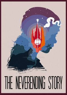 The NeverEnding Story (1984) ~ Minimal Movie Poster by Ruben (Hyung86) #amusementphile
